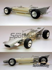 Model Factory Hiro: Model car kit 1/20 scale - Lotus 49B #9 - Graham Hill (GB) - Monaco Grand Prix 1968