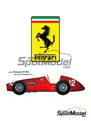 Model Factory Hiro: Model car kit 1/20 scale - Ferrari 500 F2 #52 - World Championship 1952