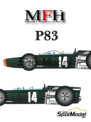 Model Factory Hiro: Model car kit 1/20 scale - BRM P83 #9, 14 - Sir John Young 'Jackie' Stewart (GB) - Belgian Grand Prix 1967