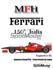 Model Factory Hiro: Model car kit 1/20 scale - Ferrari 150 Italia Banco Santander #5, 6 - Fernando Alonso (ES), Felipe Massa (BR) - Japan Grand Prix 2011