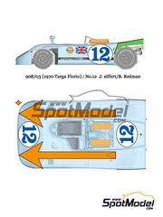 Model Factory Hiro: Model car kit 1/24 scale - Porsche 908/03 Gulf #12 - Joseph 'Jo' Siffert (CH) + Brian Redman (GB) - Targa Florio 1970 - Multimaterial kit