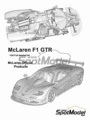 Model Factory Hiro: Model car kit 1/24 scale - McLaren F1 GTR   Kokusai Kaihatsu #59 - Yannick Dalmas (FR) + Masanori Sekiya (JP) + Jyrki Juhani 'JJ Lehto' Jarvilehto (FI) - 24 Hours Le Mans 1995 - Multimaterial kit