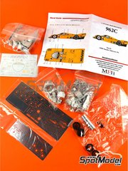 Model Factory Hiro: Model car kit 1/43 scale - Porsche 962C FAT Repsol #4 - 24 Hours Le Mans 1988 - Multimaterial kit