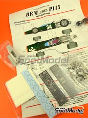 Model Factory Hiro: Model car kit 1/43 scale - BRM H-16 #34 - Sir John Young 'Jackie' Stewart (GB) - Italian Formula 1 Grand Prix 1967 - Multimaterial kit