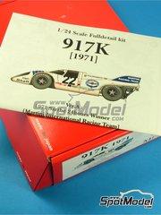 Model Factory Hiro: Maqueta de coche escala 1/24 - Porsche 917K Martini Nº 22 - Helmut Marko (AT) + Gijs van Lennep (NL) - 24 Horas de Le Mans 1971 - kit multimaterial
