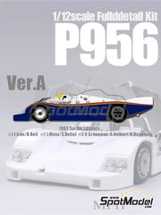 Model Factory Hiro: Model car kit 1/12 scale - Porsche 956 Rothmans #1, 2, 3 - Jacques Bernard 'Jacky' Ickx (BE) + Derek Bell (GB), Jochen Mass (DE) + Stefan Bellof (DE), Vern Schuppan (AU) + Alvah Robert 'Al' Holbert (US) + Hurley Haywood (US) - 24 Hours Le Mans 1983 - multimaterial kit