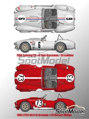 Model Factory Hiro: Model car kit 1/12 scale - Shelby 427 Cobra #6, 73 - 12 Hours Sebring 1965 and 1966 - multimaterial kit