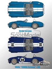 Model Factory Hiro: Model car kit 1/12 scale - Shelby 427 Cobra 1960 - multimaterial kit image