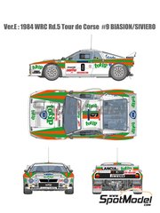 Model Factory Hiro: Model car kit 1/12 scale - Lancia Rally 037 Jolly Club Totip #9 - Massimo 'Miki' Biasion (IT) + Tiziano Siviero (IT) - Tour de Corse 1984 image