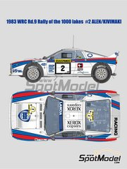 Model Factory Hiro: Model car kit 1/12 scale - Lancia Rally 037 Martini Racing #2 - Markku Alén (FI) + Ilkka Kivimäki (FI) - 1000 Lakes Finland Rally 1983 image