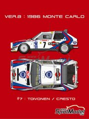 Model Factory Hiro: Model car kit 1/12 scale - Lancia Delta S4 Martini #7 - Henri Toivonen (FI) + Sergio Cresto (US) 1986