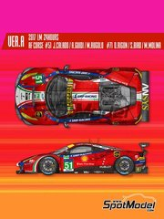 Model Factory Hiro: Model car kit 1/12 scale - Ferrari 488 GTE AF Corse #51, 71 - 24 Hours Le Mans 2017 - photo-etched parts, resin parts, rubber parts, vacuum formed parts, water slide decals, white metal parts, assembly instructions and painting instructions