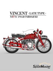 Model Factory Hiro: Model bike kit 1/9 scale - Vicent White Shadow