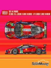 Model Factory Hiro: Model car kit 1/24 scale - Ferrari 488 GTE AF Corse #51, 71 - 24 Hours Le Mans 2017 - photo-etched parts, resin parts, rubber parts, water slide decals, white metal parts, assembly instructions and painting instructions