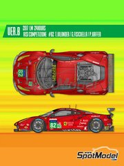 Model Factory Hiro: Model car kit 1/24 scale - Ferrari 488 GTE Risi Competizione #82 2017 - photo-etched parts, resin parts, rubber parts, water slide decals, white metal parts, assembly instructions and painting instructions
