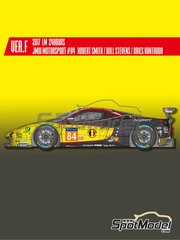 Model Factory Hiro: Model car kit 1/24 scale - Ferrari 488 GTE JMW Motorsport #84 - 24 Hours Le Mans 2017 - photo-etched parts, resin parts, rubber parts, water slide decals, white metal parts, assembly instructions and painting instructions image
