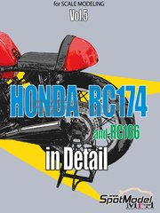Model Factory Hiro: Reference / walkaround book - Honda RC174 and RC166 image