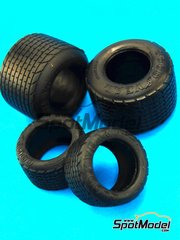 Model Factory Hiro: Tyre set 1/20 scale - 1970s F1 Rain tyre set - rubber parts - for Tamiya kits