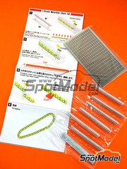Model Factory Hiro: Chain set 1/9 scale - Chain - photo-etched parts, white metal parts and assembly instructions