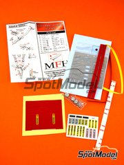 Model Factory Hiro: Seatbelts 1/12 scale - Red racing seatbelt - photo-etched parts, seatbelt fabric, white metal parts, other materials and assembly instructions image