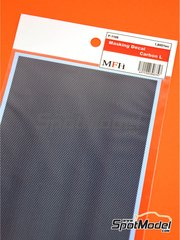 Model Factory Hiro: Masks - Large carbon fiber pattern - paint masks
