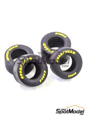 Model Factory Hiro: Tyre set 1/43 scale - Good Year narrow slicks 1990s - rubber parts - 4 units