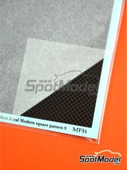 Model Factory Hiro: Decals - Carbon Decal Modern Square Pattern Small
