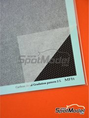 Model Factory Hiro: Decals - Carbon Decal Gradation Pattern Type 2 Large