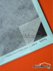 Model Factory Hiro: Decals - Carbon Decal Thick Wave Pattern Type 1 Small - water slide decals image