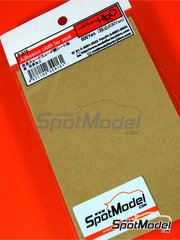 Model Factory Hiro: Detail - Seat suede-like in beige color - adhesive cloth
