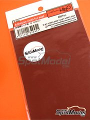 Model Factory Hiro: Detail - Adhesive cloth for seat, Leather-like - Red 90mm x 150mm