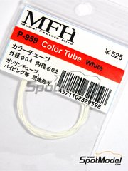 Model Factory Hiro: Pipe - White tube 0.4 mm (outside) x 0.2 mm (inside) x 50  cm (long) - other materials