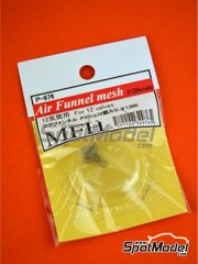 Model Factory Hiro: Air funnel 1/20 scale - Air Funnel Mesh for Ford DFV engines - metal parts - 12 units