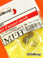 Model Factory Hiro: Detail 1/12 scale - Air Funnel Mesh for Ford DFV engines - metal mesh - 8 units