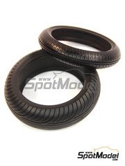 Model Factory Hiro: Tyre set 1/12 scale - MotoGP Motorcycle wet tyres - rubber parts