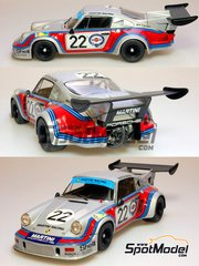 Model Factory Hiro: Model car kit 1/24 scale - Porsche 911 Carrera RSR Turbo Martini Racing #22 - Herbert Müller (CH) + Gijs van Lennep (NL) - 24 Hours Le Mans 1974 - resin multimaterial kit