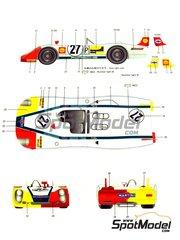 Model Factory Hiro: Model car kit 1/24 scale - Porsche 908/2 Martini #27 - Rudi Lins (AT) + Helmut Marko (AT) - 24 Hours Le Mans 1970 - resin multimaterial kit