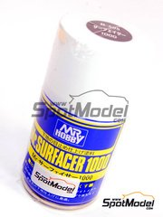 Mr Hobby: Imprimación - Mr. Surfacer 1000 - 100 ml - Spray - Color gris
