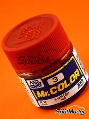Mr Hobby: Pintura de la gama Mr Color - Rojo