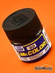 Mr Hobby: Pintura de la gama Mr Color - Negro satinado - Semi gloss black