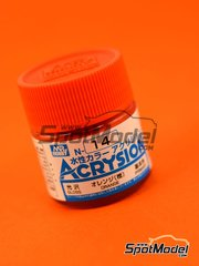Mr Hobby: Pintura gama Acrysion Color - Naranja brillante - Orange gloss - 1 x 10ml