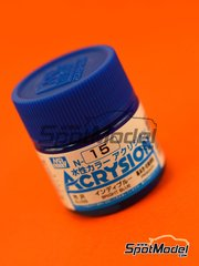 Mr Hobby: Pintura gama Acrysion Color - Azul intenso - Bright blue gloss