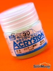 Mr Hobby: Pintura acrílica - Barniz brillo - Clear