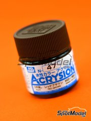 Mr Hobby: Acrysion Color paint - Red Brown - 1 x 10ml