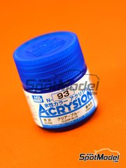 Mr Hobby: Pintura gama Acrysion Color - Azul Traslucido Transparente - Clear blue