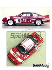 Narton Kits: Model car kit 1/24 scale - Opel Manta 400 Bastos #5 - Ypres Rally - kit de resina