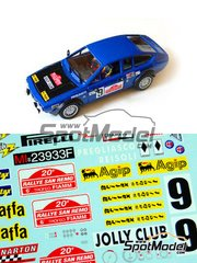 Narton Kits: Model car kit 1/24 scale - Alfa Romeo Alfetta GTV Turbodelta Group 2 - Pregliasco + Reisoli - Sanremo Rally 1978 - resin multimaterial kit