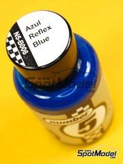 Number Five: Enamel paint - Reflex Blue