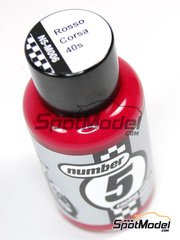 Number Five: Enamel paint - Rosso Corsa 40s - 50ml