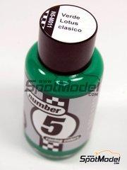 Number Five: Enamel paint - Classic Lotus Green